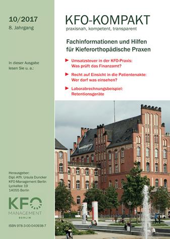 kfo kompakt 10 2017 kfo management berlin. Black Bedroom Furniture Sets. Home Design Ideas