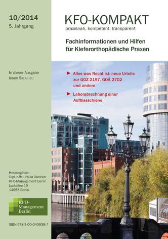 kfo kompakt 10 2014 kfo management berlin. Black Bedroom Furniture Sets. Home Design Ideas